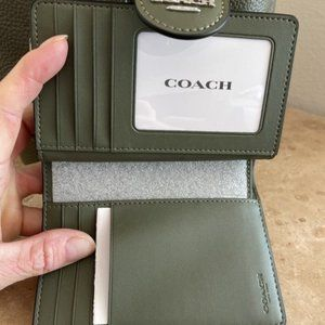 Coach Drawstring Leather with Wallet CrossBody Bag